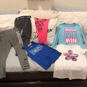 Justice Size 10 Lot Of Active Wear For Gymnast